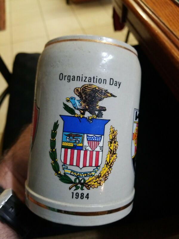 Rare US Army 1984 23rd Engineer Battalion German made 20 oz ceramic beer stein