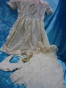 Vintage, baby Christening gown, petticoat and bib Blakeview Playford Area Preview