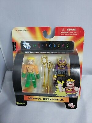 2006 DC Direct Mini Mates Series 3 Aquaman & Ocean Master DC Comics
