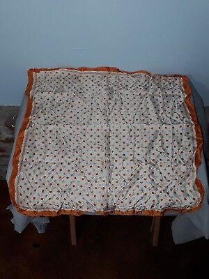 Vintage Scarf Polka Dot Orange Brown White 22 x 22 Acetate