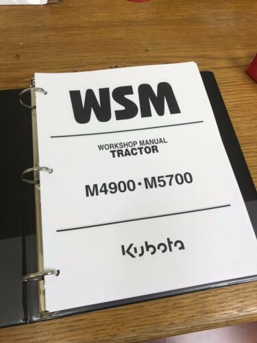 KUBOTA M4900 M5700 Tractor Workshop Service Repair Manual BINDER