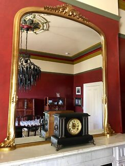 Large gilded edge mirror, ideal on a mantel piece