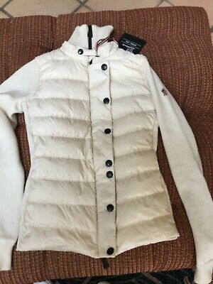 MONCLER GRENOBLE MAGLIONE TRICOT CARDIGAN, Size S , Off white/ Beige
