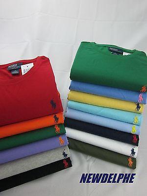 NWT Polo Ralph Lauren Men's Short-Sleeved T-Shirt Tee S M L XL XXL Crew Neck Tee