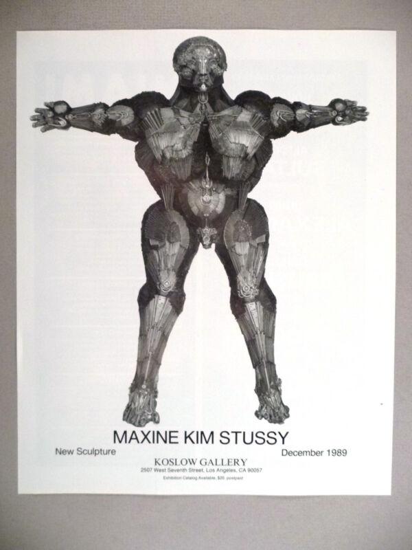 Maxine Kim Stussy Art Gallery Exhibit PRINT AD - 1989