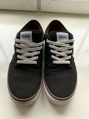 Vans Atwood Canvas Low-Top Skate Sneakers/Trainers Black/White UK 7