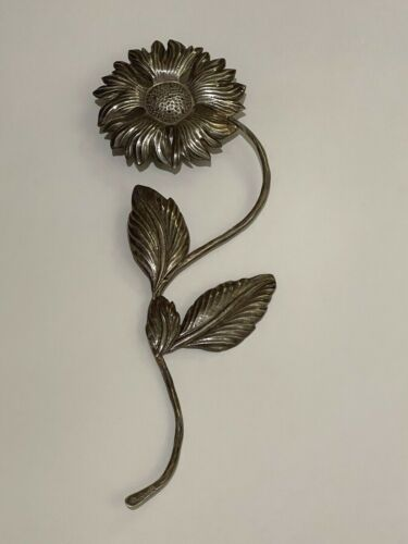 "Vintage 9"" Sterling Silver .825 Sunflower 85 Grams"