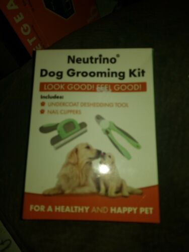 Neutrino Dog Grooming Kit Undercoat Deshedding Tool And Nail Clippers Combo - $8.95