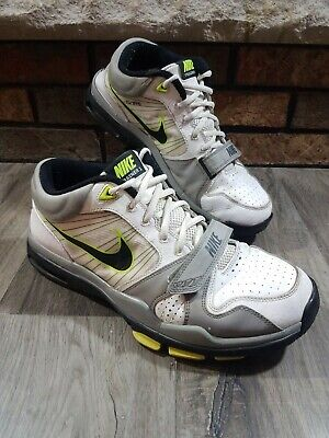 Vintage Nike Air Trainer 1.2 Mid Grey Black White Green Size 11.5 407766-107