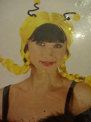 Perücke Rubies Bee Mine Wig schwarz-gelbe Zöpfe Karneval Kostüm Biene Maja (Kostüm Zöpfe)