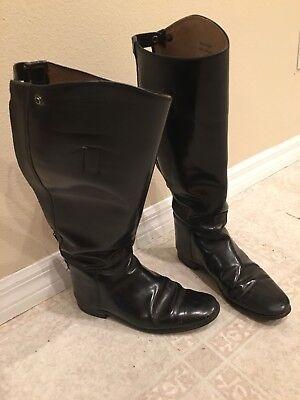 bdb9aed2d2e1 MARLBOROUGH Black Leather English Equestrian   Riding Boots Women s US Size  9