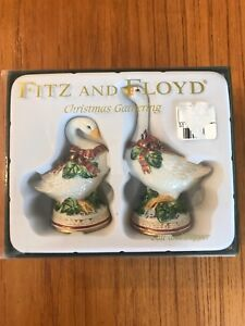 Fitz and Floyd Christmas Gathering salt and pepper