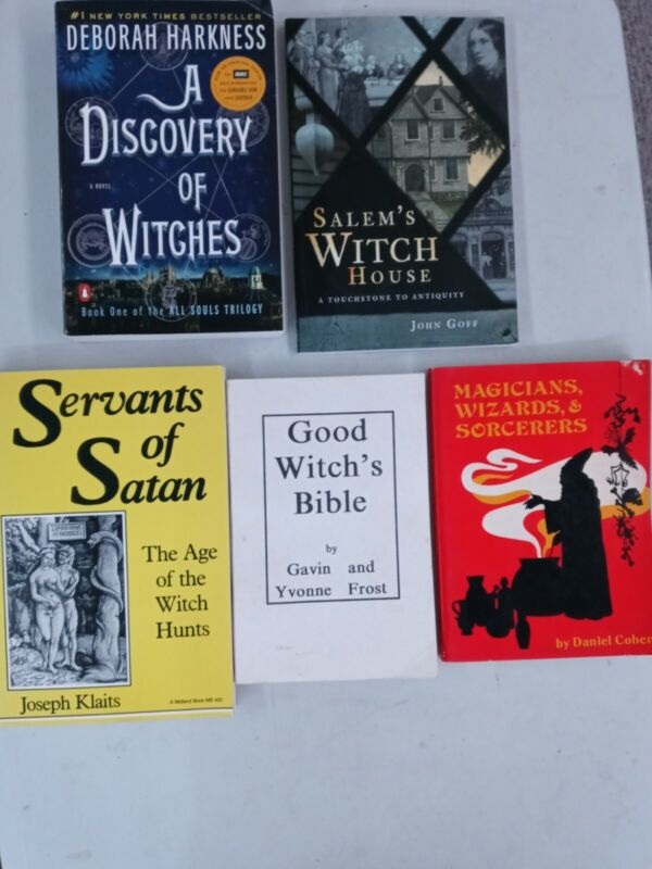 Witches Witchcraft Books Lot Salem Witch