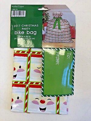 Holiday Christmas Bike Gift Bag Wrap Snowman theme 36