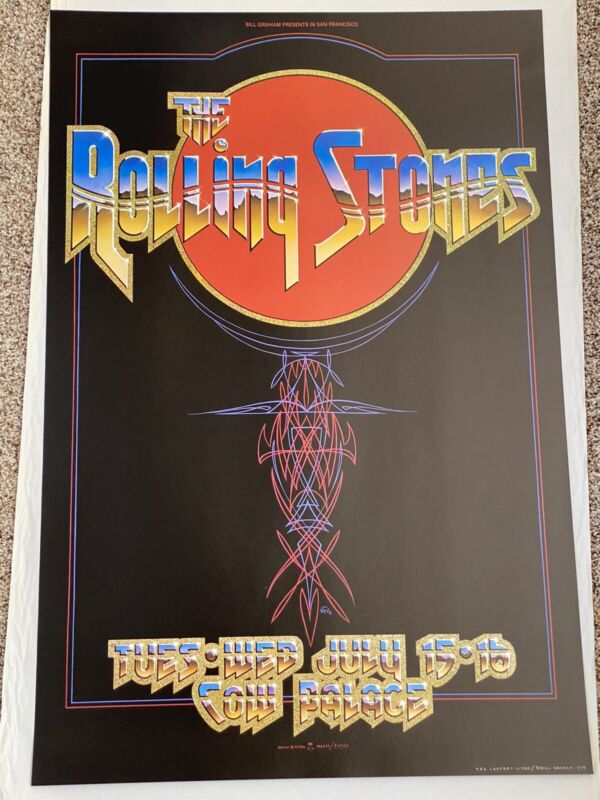 Rolling Stones Concert Poster From The 1970s! Never Displayed