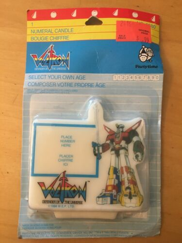 VOLTRON NUMERAL CANDLE VINTAGE FROM 1984, FACTORY SEALED, PARTYTIME