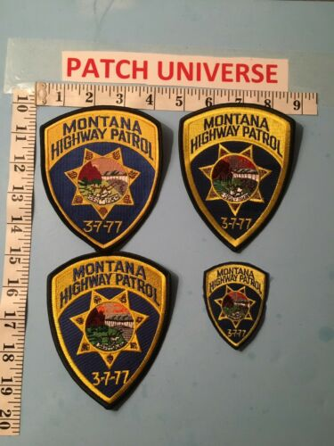LOT OF FOUR  DIFFERENT MONTANA  HIGHWAY PATROL   PATCHES  O028