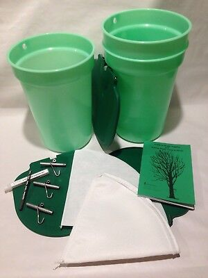 Premium Maple Syrup Kit - 3 Buckets Wlids Etc. Free Shipping Sap Collecting