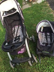 Baby stroller and car seat set