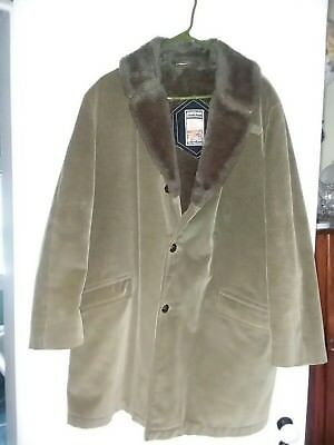 Vintage MIGHTY MAC Out O'Gloucester Corduroy Fishermans Jacket Sherpa Men Sz 44L, used for sale  Greencastle