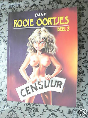DUTCH COMIC ROOIE OORTJES DEEL 2 CENSUUR SEX GIRLS 1991 BOEMERANG