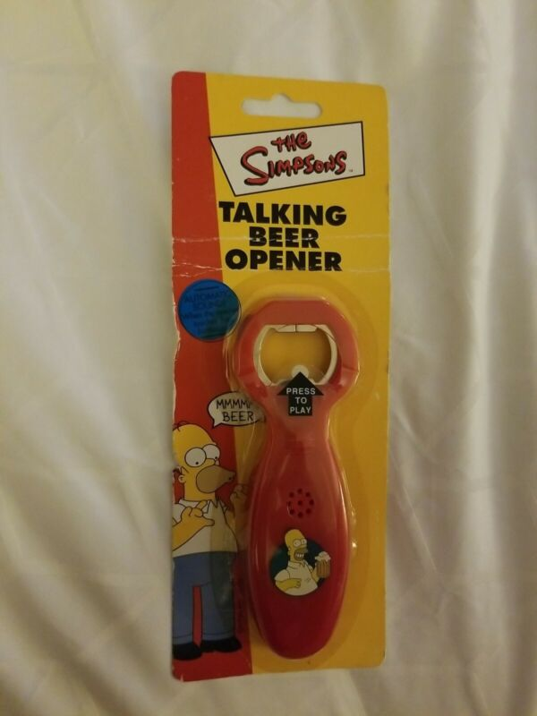 NEW 2002 Sealed Homer Simpson Talking Beer Opener Red The Simpsons #6