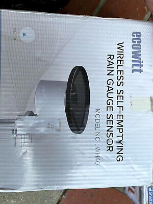 ECOWITT WH40 Wireless Self-Emptying Rain Collector Rainfall Sensor - Accessor...