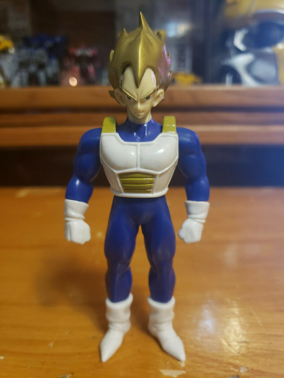 Character:Super Saiyan Vegeta Vol 7 (Gold Hair):BANDAI Dragonball Z  and Dragon Ball GT super battle collection AB Toys & Irwin