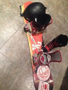 Snowboard helmet and boots $90 obo