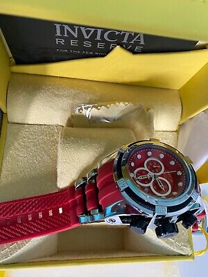 Invicta RESERVE Men's BOLT ZEUS Swiss Made Qrtz Chrono Red/Red Dial#14402