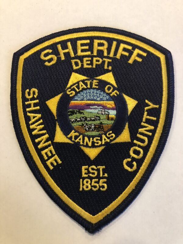 Vintage Shawnee County Kansas Sheriff Patch ~ New Condition