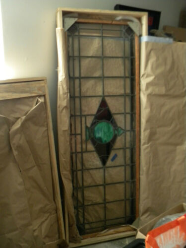 Stained glass, Large Pair, windows or door inserts No breakes!