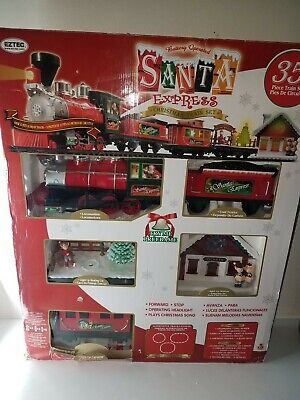 SANTA EXPRESS Train Set Christmas EZTEC 35 Piece In box from 2017 #62177