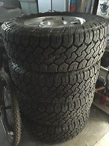 """4 17"""" F-150 Wheels On LT265/70R17 Toyo Open Country Tires"""