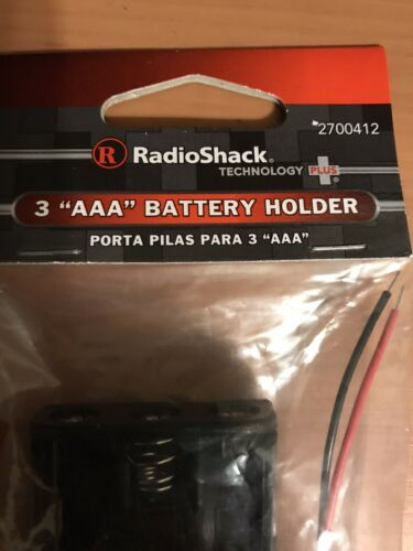 2 Packs Radio Shack 3 AAA Battery Holder - $7.50