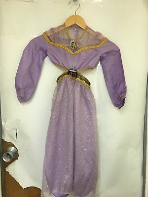 Disney Girls' Purple Gold Jasmine Two-Piece Princess Costume Sz XS 4/5 K3 - Purple Princess Jasmine Costume