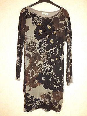 Cristina Paris Strickkleid M  Blumen mit Perlenstickerei online kaufen