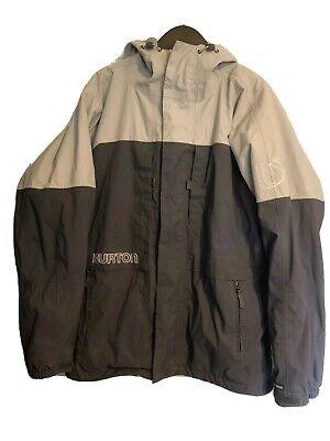Men's BURTON SMU SnowBoard Hooded Ski Jacket Size L Gray