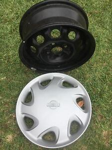 4 New Rims 14 x 5.5in and 4 New Nissan Hubcaps Springwood Blue Mountains Preview