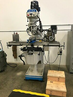 Acra Machinery Am3vv Vertical Mill W Kurt Vise Dro Griswold Optical Table