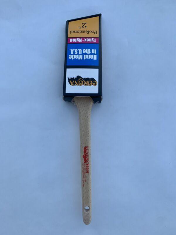 """Corona Sabre 2"""" Tynex Nylon Angle Sash Paint Brush"""