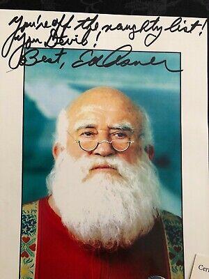ED ASNER-Autograph Signed Photo Christmas