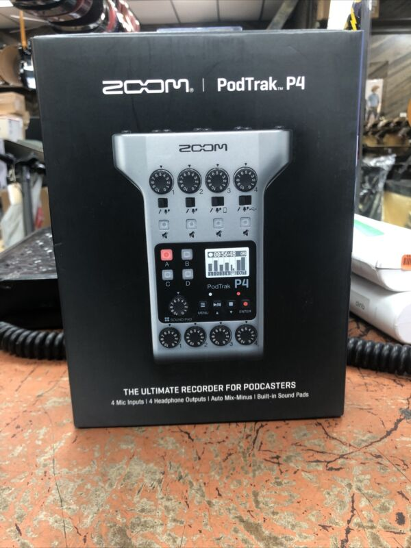 Zoom PodTrak P4 Podcast Recorder New