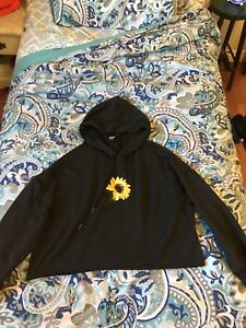 sunflower cropped hoodie