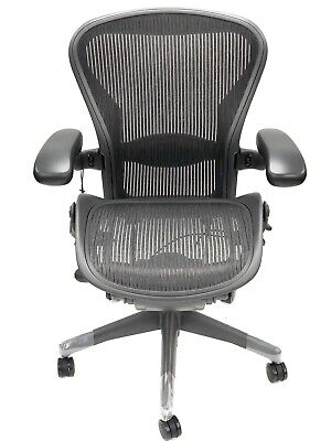 Renewed- Herman Miller Fully-loaded Size B Lumbar Support Aeron Chair