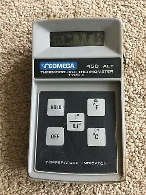 Omega Type E Thermocouple Thermometer Model 450aet Probably Not Working