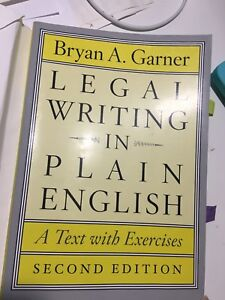 (Paralegal's textbook) legal writing
