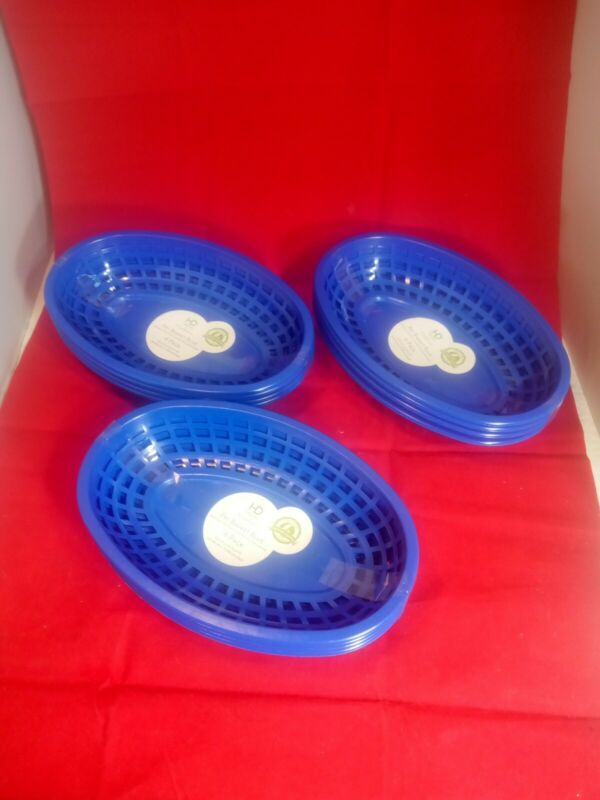 Blue Pack Of 4 Fry Basket 9x6x2