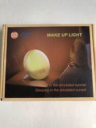 Sunrise Alarm Clock, Te-Rich Wake Up Light with FM Radio/Dual Alarm/7 Sounds