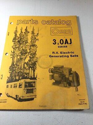 Onan 3.0 Aj Series Rv Generators Parts Manual